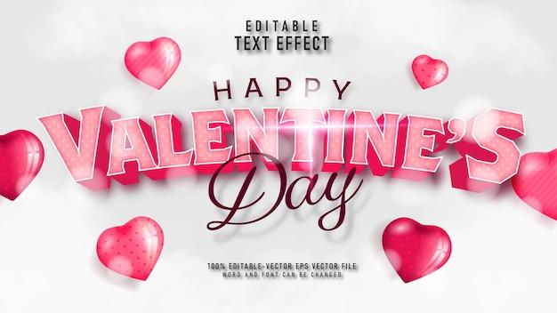 Valentinstag-texteffekt Kostenlosen Vektoren