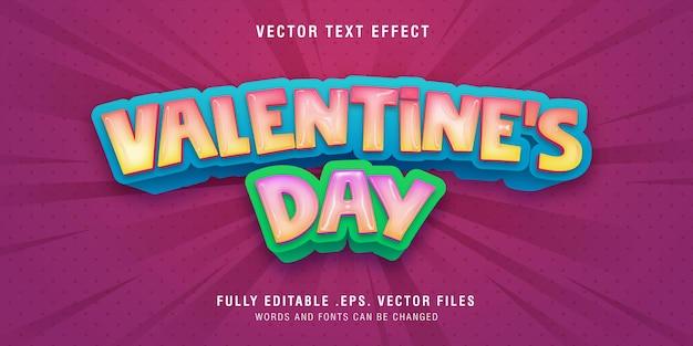 Valentinstag textstil-effekt Premium Vektoren