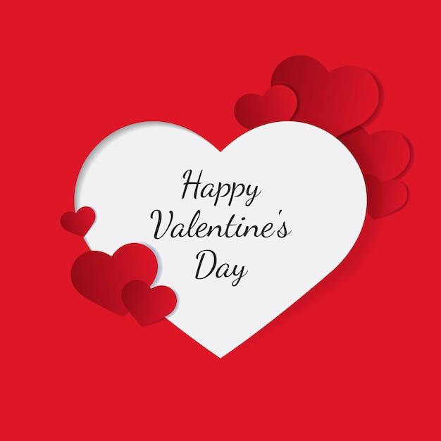Valentinstag-vektor-design-konzept Kostenlosen Vektoren