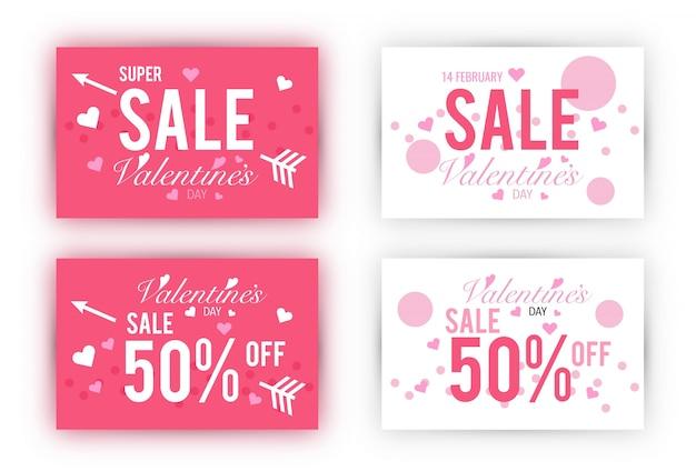 Valentinstag Verkauf Gutschein Vorlage festgelegt.   Download der ...