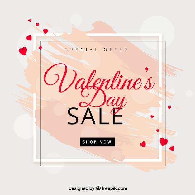 Valentinstag Verkauf Hintergrund Kostenlose Vektoren