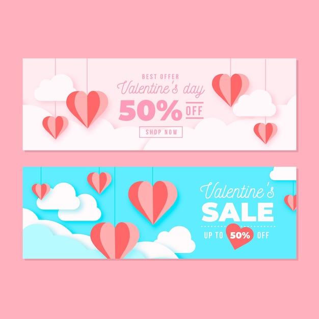 Valentinstag verkauf mit 50% rabatt Kostenlosen Vektoren