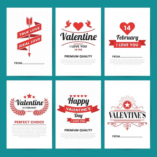 Valentinstag Vorlage Banner Download Der Premium Vektor