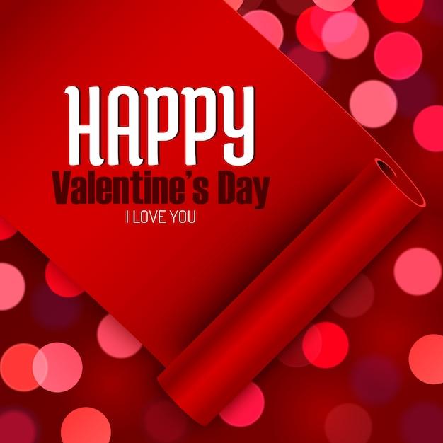 Valentinstaggrußkarte, liebesmitteilung Premium Vektoren