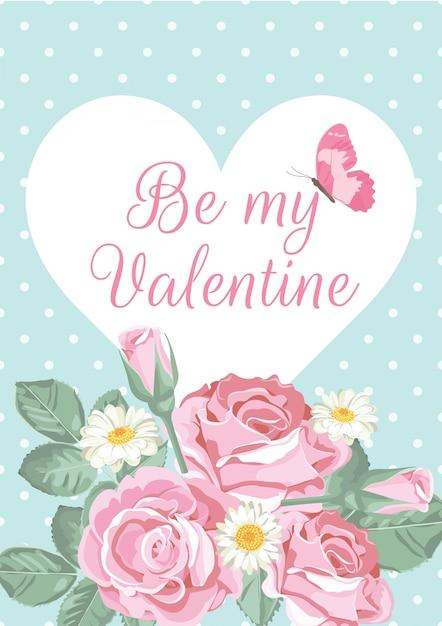 Valentinstaggrußkarte Premium Vektoren