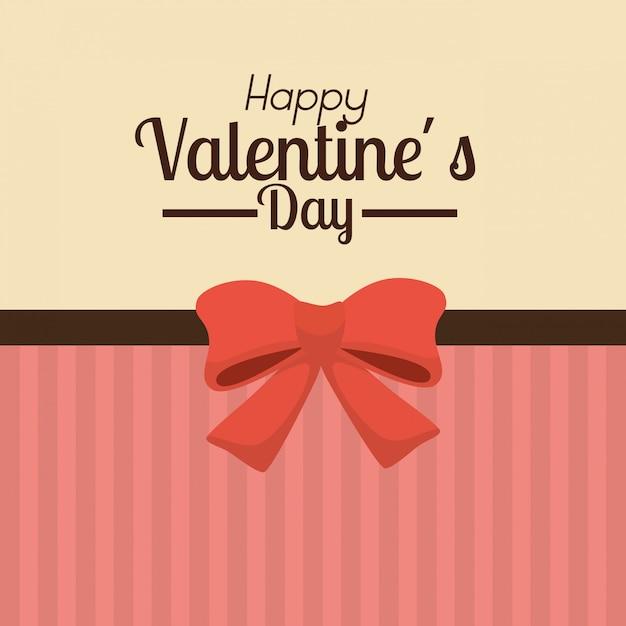 Valentinstaghintergrund mit rotem bogen Kostenlosen Vektoren