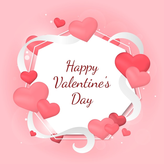 Valentinstagkarte abbildung Kostenlosen Vektoren