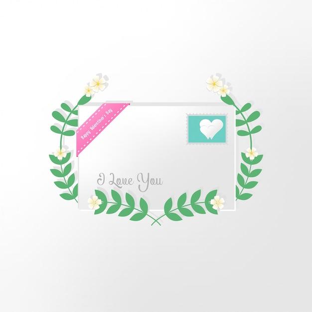 Valentinstagkarte mit herzen und platz für ihren text Premium Vektoren