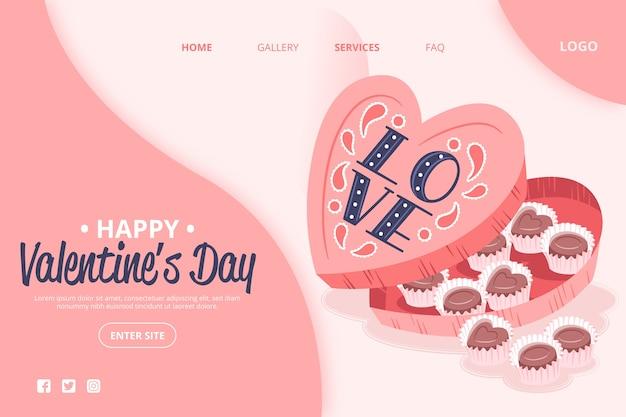 Valentinstagsthema auf social media Kostenlosen Vektoren