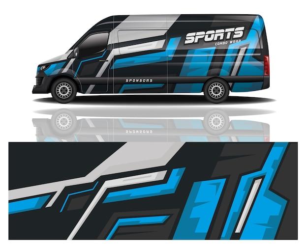 Van car wrap design Premium Vektoren
