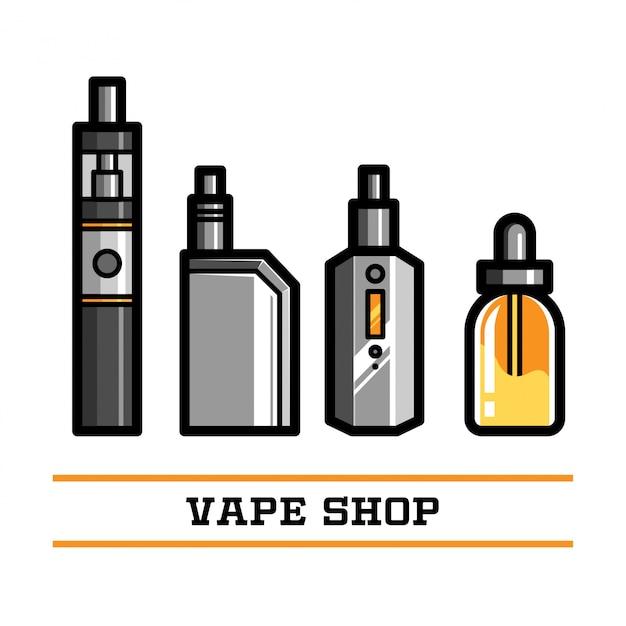 Vape shop vektorelement Premium Vektoren