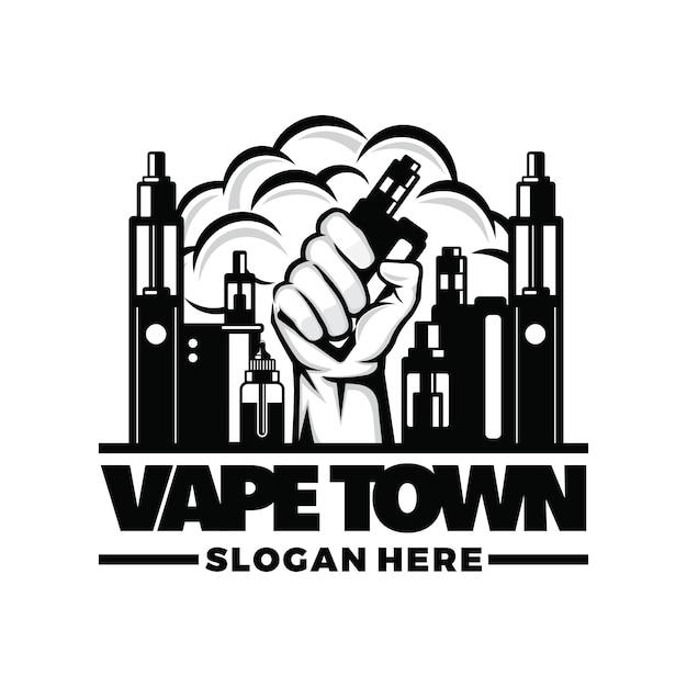 Vape, vapor logo Premium Vektoren