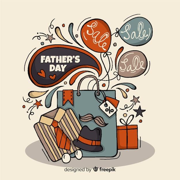 Vatertag verkauf hintergrund Kostenlosen Vektoren