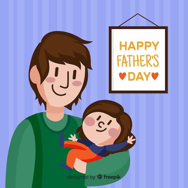 Vatertag Kostenlosen Vektoren