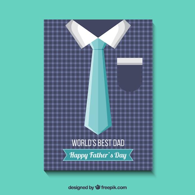 Vatertagskarte Mit Hemd Und Krawatte Download Der Kostenlosen Vektor