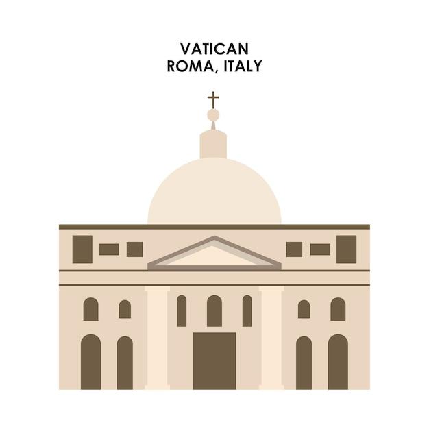 Vatikan-ikone. italien kultur design. vektorgrafik Premium Vektoren