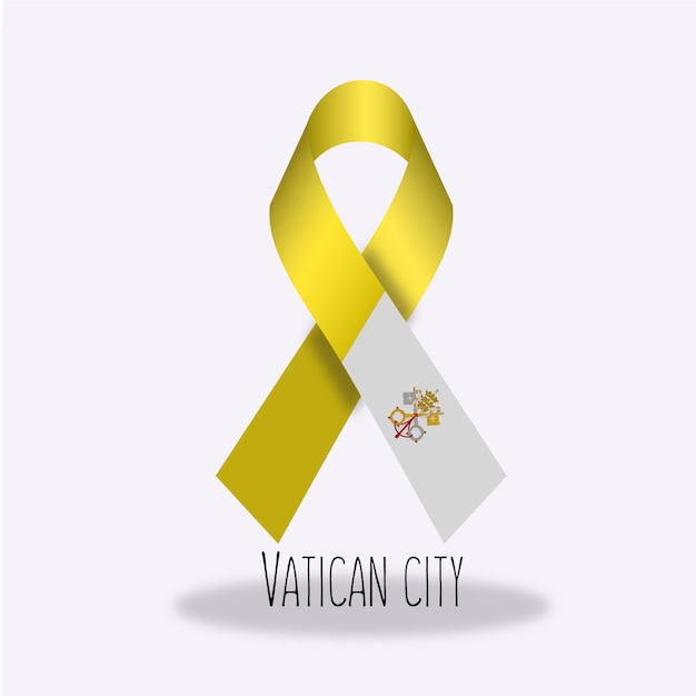 Vatikanstadtflaggenbandentwurf Kostenlosen Vektoren