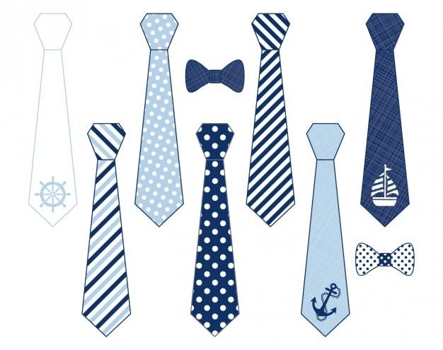 Vatis krawatten Kostenlosen Vektoren