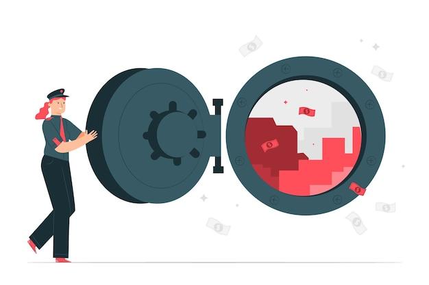 Vault-konzept illustration Kostenlosen Vektoren