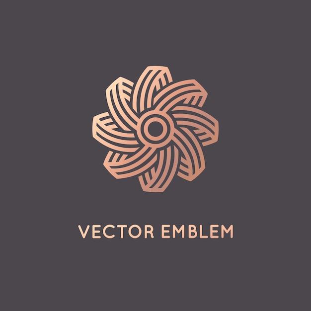 Vector abstrakte logodesignschablone in der modischen linearen art Premium Vektoren