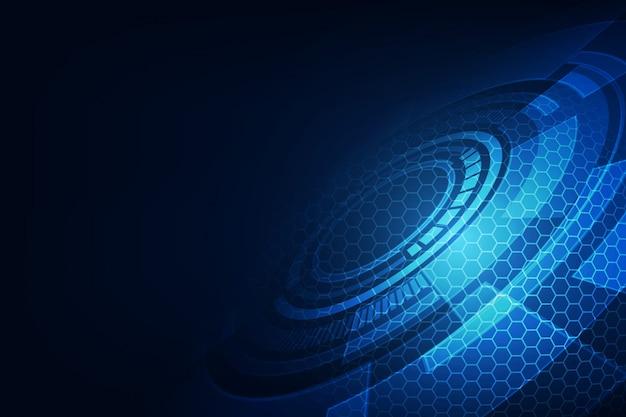 Vector abstrakte zukünftige technologie, elektrischen telekommunikationshintergrund Premium Vektoren