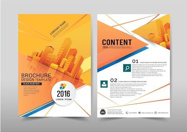 Vector abstrakten hintergrund broschüren-fliegerschablone a4-größenentwurf. Premium Vektoren