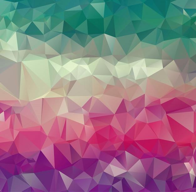 Vector abstrakten unregelmäßigen polygonhintergrund mit einem dreieckigen muster in farbenreichem. Premium Vektoren