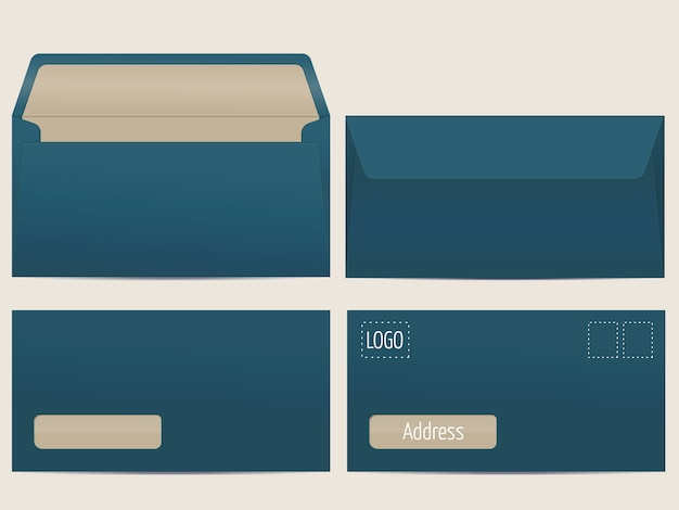 Vector briefumschlag. leere papierumschläge für ihr design. vector umschläge vorlage. Kostenlosen Vektoren