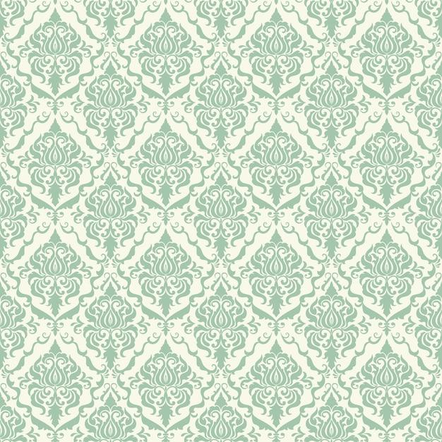 Vector damast nahtlose muster hintergrund. klassische luxus altmodische damast ornament, royal victorian nahtlose textur für tapeten, textil, verpackung. exquisite blumen-barock-vorlage. Kostenlosen Vektoren