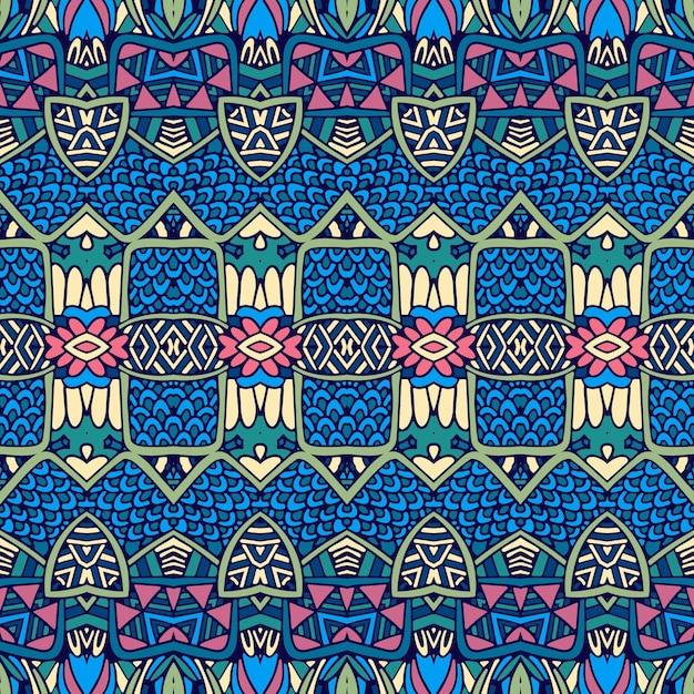 Vector ethnic abstract nahtlose vintage muster hintergrund dekorativ. Premium Vektoren