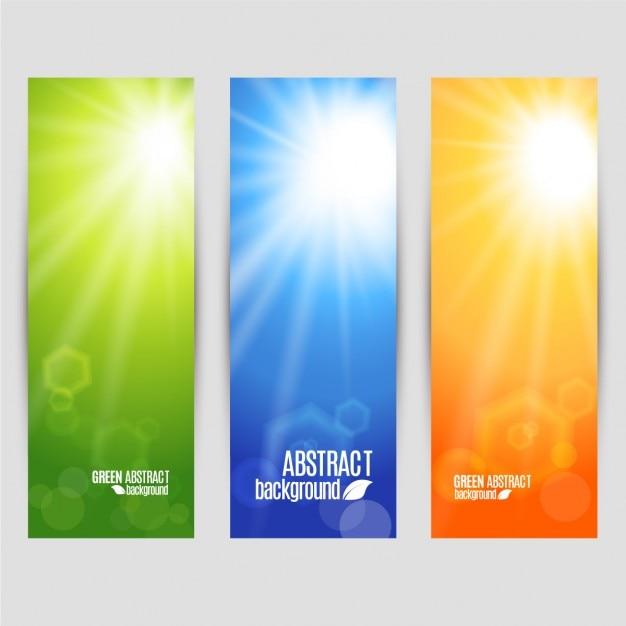 Vector farben gesetzt banner von glanz Kostenlosen Vektoren