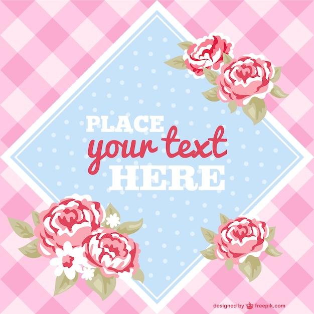 Vector floral Vorlage Einladung | Download der kostenlosen Vektor