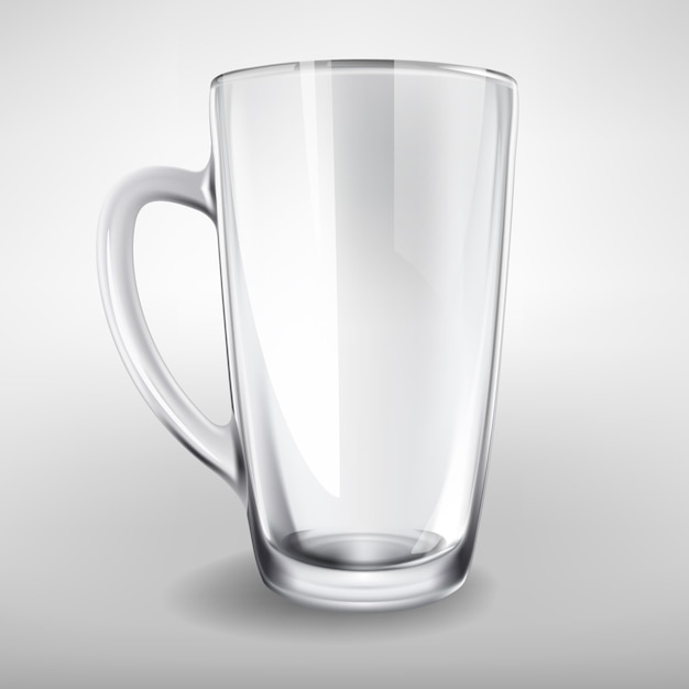 Vector hohe Glas leer realistische Tasse Kostenlose Vektoren