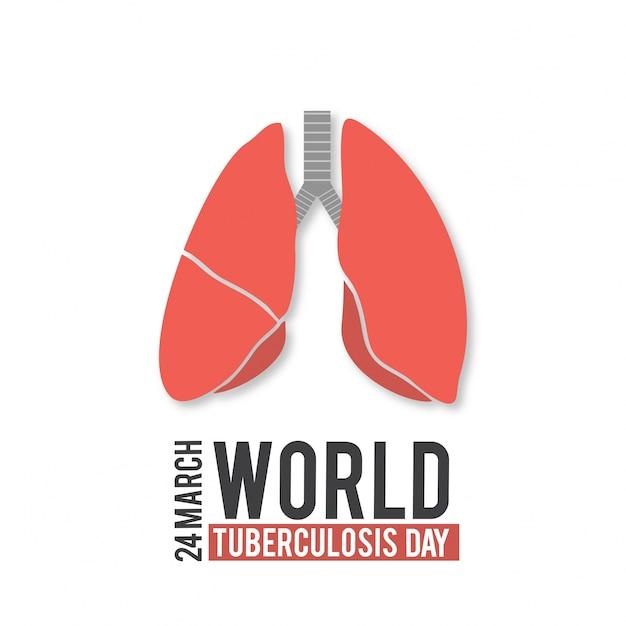 Vector illustration eines stilvollen text für welt-tuberkulose-tag Kostenlosen Vektoren