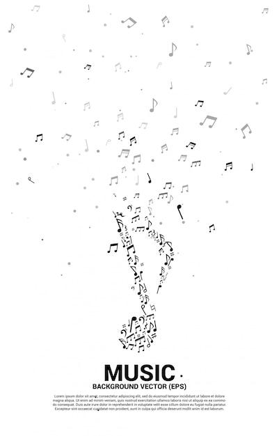 Vector musikmelodienanmerkungs-tanzenfluß für konzertthema Premium Vektoren