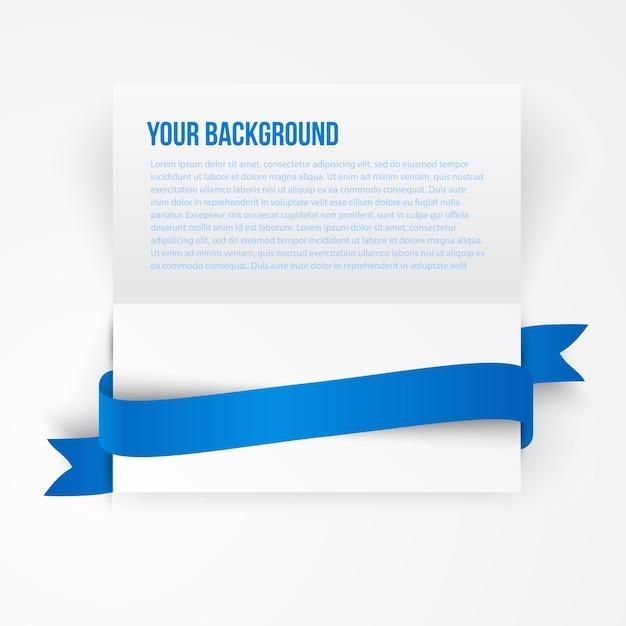Vector Papier Vorlage Banner. Weiße Notiz | Download der kostenlosen ...
