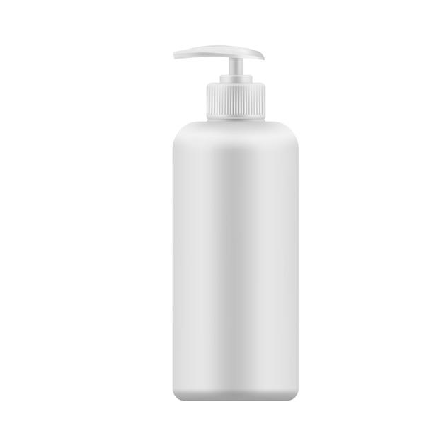 Vector realistische leere schablone der plastikflasche mit zufuhr Premium Vektoren