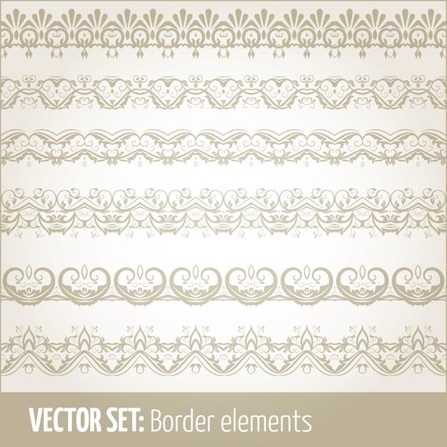 Vector Reihe von Rand-Elemente und Seite Dekoration Elemente ...