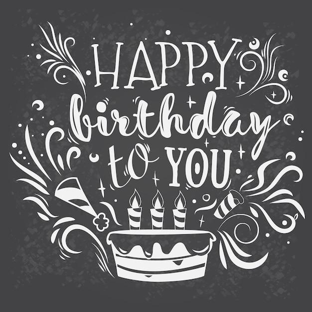 Vector Schriftzug alles Gute zum Geburtstag | Download der kostenlosen Vektor