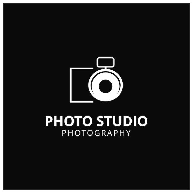Vector white icon für fotografen auf schwarzem hintergrund kamera icon Kostenlosen Vektoren