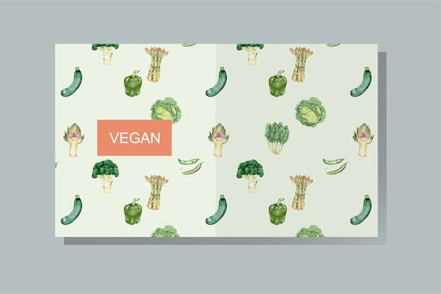 Veganer bucheinband vektor Kostenlosen Vektoren