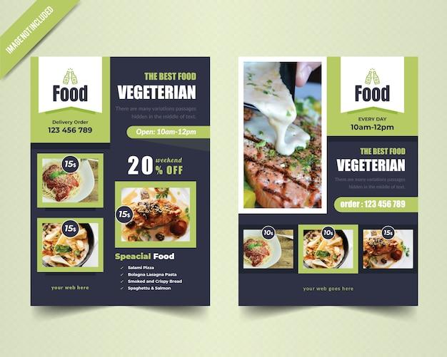 Vegetarische flyer vorlage Premium Vektoren