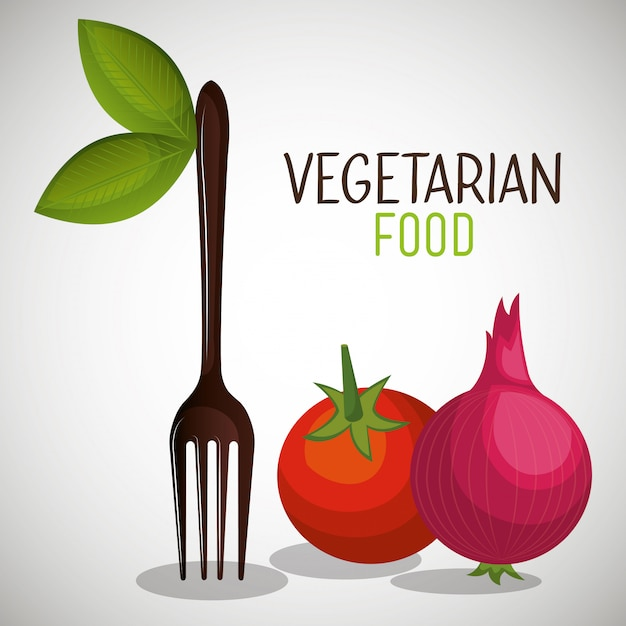 Vegetarisches menü Kostenlosen Vektoren