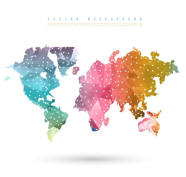 Vektor Abstrakt Telekommunikation Erde Karte. Kostenlose Vektoren