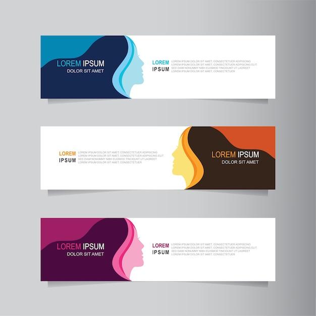 Vektor abstrakte banner design web template Premium Vektoren