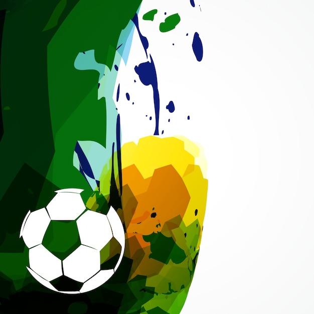 Vektor abstrakte fußballspiel design Kostenlosen Vektoren