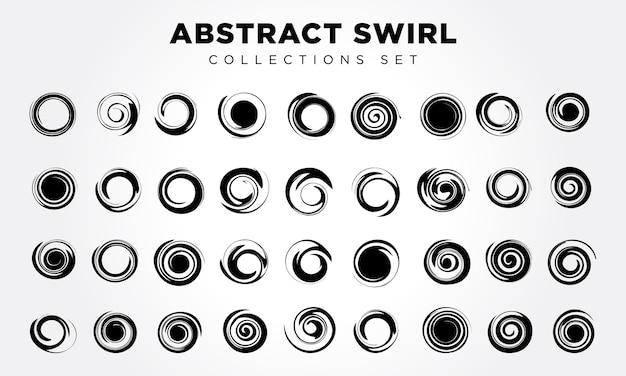 Vektor abstrakte spirale elementsatz Premium Vektoren