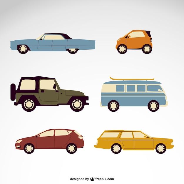 Vektor-autos kostenlos pack Kostenlosen Vektoren