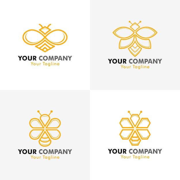 Vektor-bienen-logo Premium Vektoren