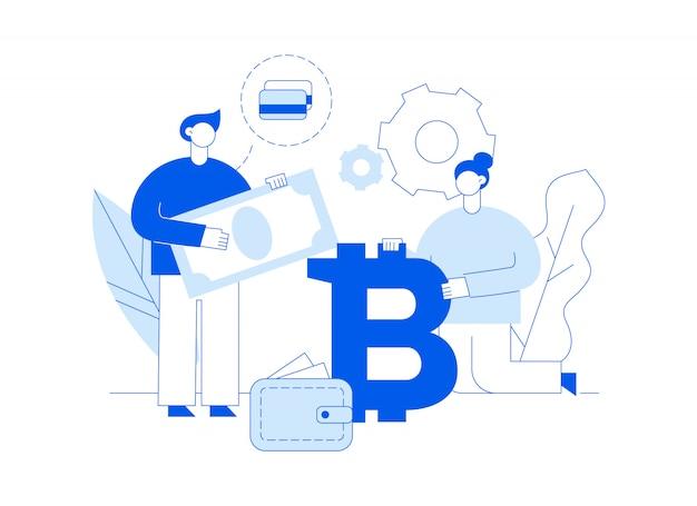 Vektor-bitcoin-investition Premium Vektoren
